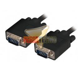 CABLE VGA 1,8 MTS. C/FERRITA, MACHO/MACHO