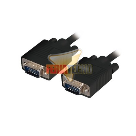 CABLE VGA 1,8 MTS. MACHO/MACHO