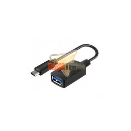 ADAPTADOR USB-C A USB-A 3.0, 10 CMS
