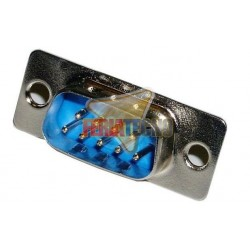 CONECTOR DB9 (SERIAL) MACHO 9 PINES PARA SOLDAR