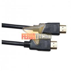 CABLE HDMI 2.0 4K 3 MTS. MACHO MACHO, CONEC. BAÑO ORO