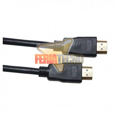 CABLE HDMI 2.0 4K 6 MTS. MACHO MACHO, CONEC. BAÑO ORO