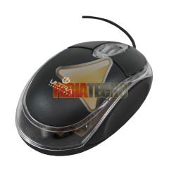 MOUSE MINI OPTICO USB, NEGRO, ULTRA UT-120N