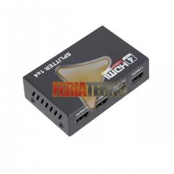 SPLITTER HDMI AMPLIFICADO 4 SALIDAS, SOPORTA 3D