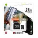MEMORIA MICRO SD 32 GB CLASE 10 + ADAPTADOR, CANVAS SELECT PLUS, KINGSTON