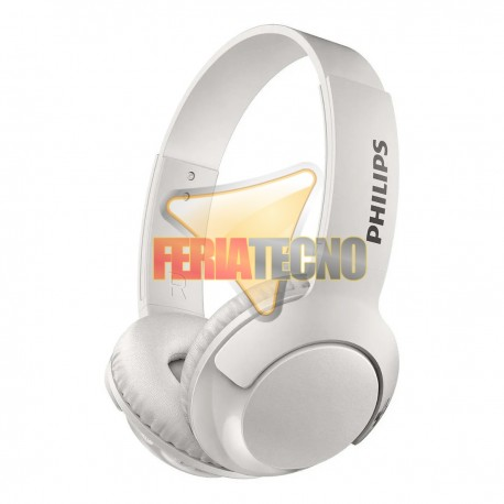 AUDIFONO BLUETOOTH PHILIPS BLANCO. SHB3075 ON EAR BASS +