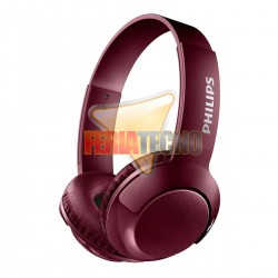 AUDIFONO BLUETOOTH PHILIPS ROJO. SHB3075 ON EAR BASS +