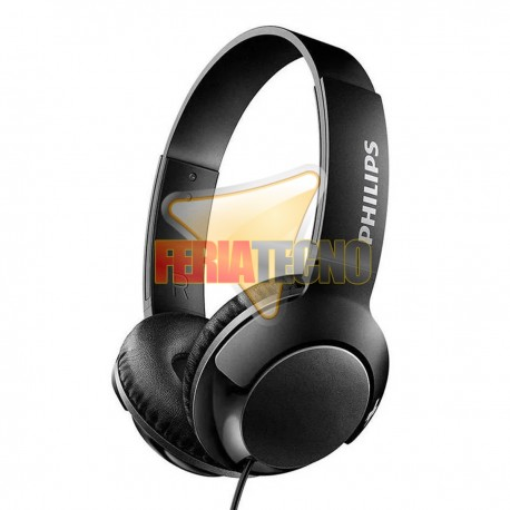 AUDIFONO PHILIPS SHB3070BK NEGRO. ON EAR BASS +
