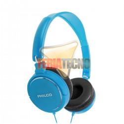 AUDIFONO CINTILLO PHILCO PLC18 AZUL. 3.5 MM.