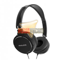 AUDIFONO CINTILLO PHILCO PLC18 NEGRO. 3.5 MM.