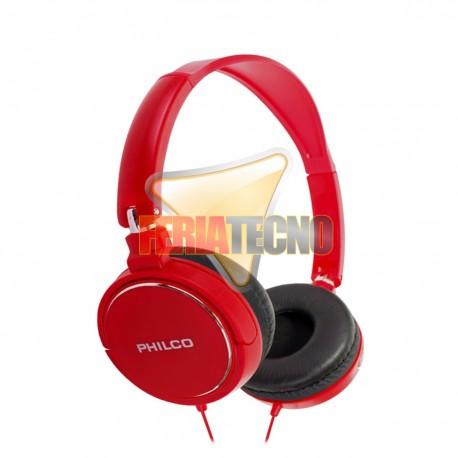 AUDIFONO CINTILLO PHILCO PLC18 ROJO. 3.5 MM.
