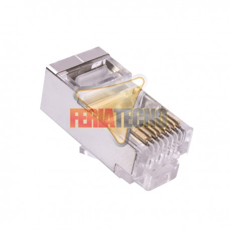 CONECTOR Rj45 CAT5e Ftp, METALICO 10 Uni.
