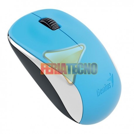 MOUSE OPTICO INALAMBRICO GENIUS USB, NX-7000, CELESTE
