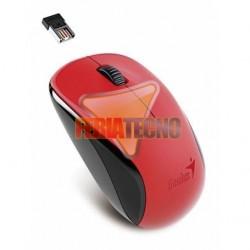 MOUSE OPTICO INALAMBRICO GENIUS USB, NX-7000 , ROJO