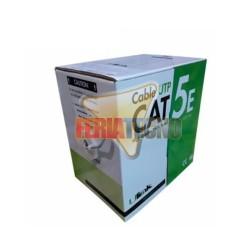 CABLE UTP CAT5E 100 MTS, 24 AWG, CCA PVC. GRIS