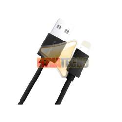 CABLE USB PARA IPHONE 5 / 6, IPOD, IPAD. NEGRO. 1 METRO. RC-129I