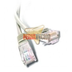 CABLE PATCH UTP CAT5E 1 MTS. GRIS.