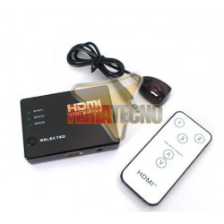 SWITCH HDMI PASIVO 3X1 (FULL 1080P HD), SOP. 3D, C. REMOTO