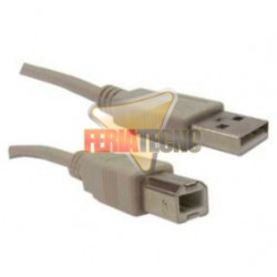 CABLE USB A-B PARA IMPRESORA M/M 1,8 MTS. BEIGE