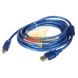 CABLE USB A-B PARA IMPRESORA M/M 5 MTS.