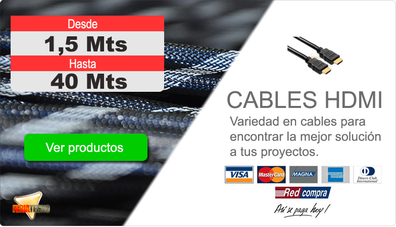 Variedad en cables hdmi, ir a categoria...
