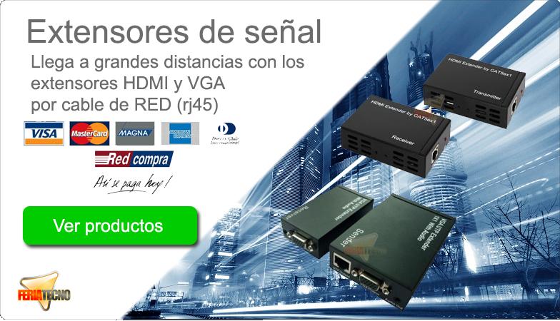 Extensores de señal HDMI y VGA